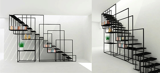 ultra-modern-staircase-and-shelf-combination