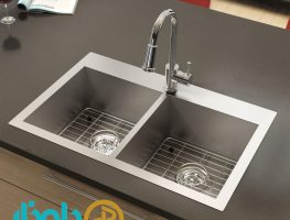 376vStainless steel sink   Twin Bowls square corners   Plumbing  Artika 263x200 - دلایل مهم استفاده از سینک استیل